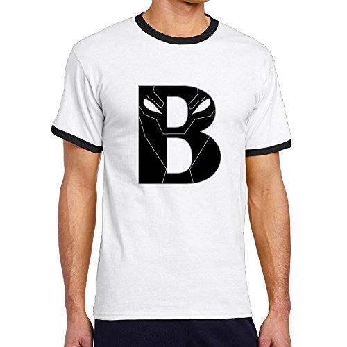 [Custom Men's Two-toned Fashion Black Panther B Logo Tshirt Black Size XXL] (Dance Fantastic Costumes)