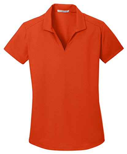 Port Authority Ladies Dry Zone Grid Polo, Autumn Orange, Large ()