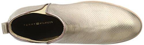 Tommy Hilfiger W1285indsor 7a, Botas Chelsea para Mujer Dorado (Rose Gold 703)