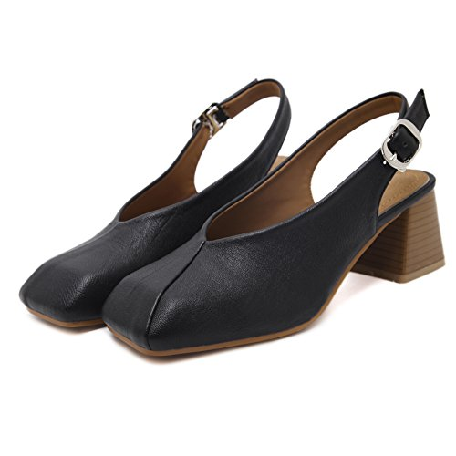 UE stile tacco ruvidi moda con black sandali europeo da sandali estivi da in scarpe donna fibbie alla alto Scarpe tacco RUGAI donna con alto qCSwZdq