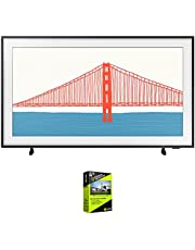 Samsung QN65LS03AA 65 Inch The Frame QLED 4K Smart TV (2021) Bundle with Premium 4 Year Extended Protection Plan
