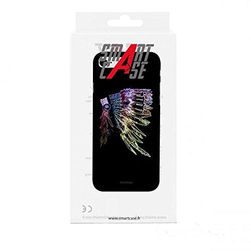 Coque + Verre Trempé pour iPhone 7 SmartCase® INDIAN HAT FEATHERS