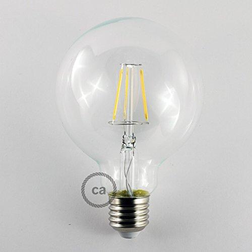 Creative-Cables cbl700111 Bombilla LED Globo G95 Filamento Corto 4 W E27 decorativo Vintage 2700 K, multicolor: Amazon.es: Iluminación