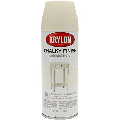 Colonial Finish - Krylon K04108000 Chalky Finish Spray Paint, Colonial Ivory by Krylon
