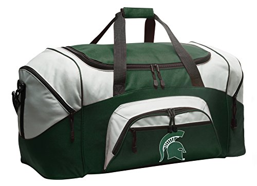 Large Michigan State Duffle Bag Michigan State University Gym Bag Large by Broad Bay
