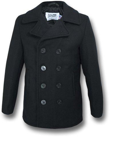 Schott NYC Wool Pea Coat, dark navy