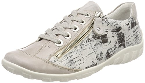 Remonte Damen R3435 Sneaker Grau (Ice/Schwarz)