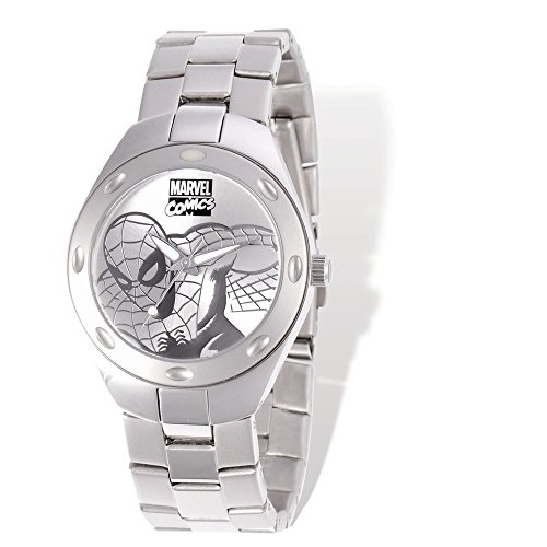 Marvel Adult Size Spiderman Silver-tone Watch