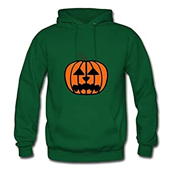 For Women Cotton Green Customizable Unofficial Unique Halloween Pumpkin Hoodies X-large