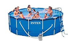 Intex 56945EB 15-Foot by 48-Inch Metal Pool Set