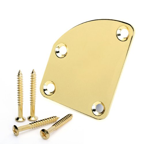 Golden Neck Mounting Plate For Electric Guitar New