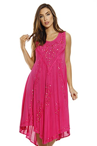 Riviera Sun 21660-FUC-XL Dress/Dresses for Women Fuchsia