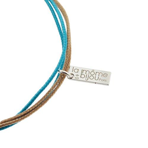 La Môme Bijou Bracelet avec Charm Argent Wow de 15 à 18 cm de long