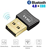 USB Bluetooth Adapter 4.0 Low Energy Micro Adapter Bluetooth Dongle Receiver Transfer Wireless for Laptop PC Desktop Computers Compatible Windows 10 8 7 Vista XP, Stereo Headset, Mouse, Keyboards