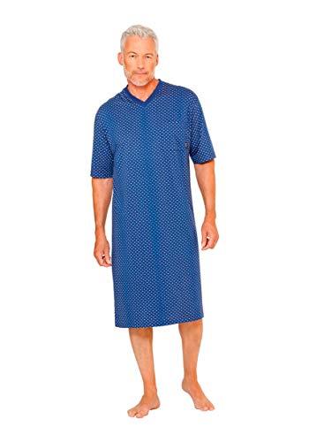 hajo Nachthemd Kurzarm 1/2 Arm 53199 681 blau Gemustert