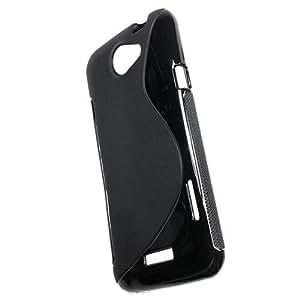 So'axess S Line- Carcasa de silicona para HTC One X, color negro