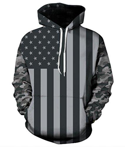 AMOMA Realistic Digital Pullover Sweatshirt product image