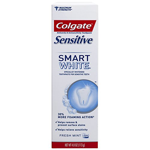 Colgate Sensitive Smart White Whitening Foaming Toothpaste – 4 ounce (6 Pack)