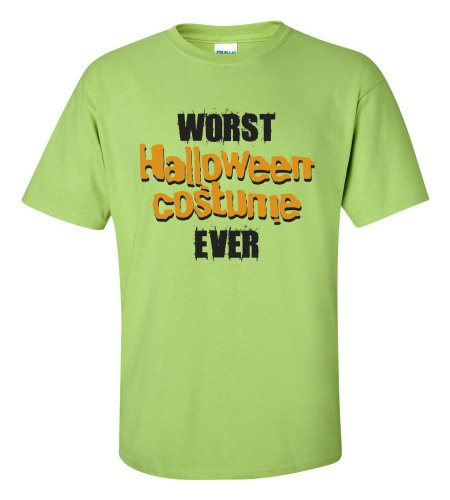 Green Man Costume Walmart (Worst Halloween Costume Ever T-shirt Funny Scary-lime-XL)