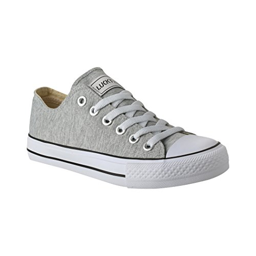 36 Sportschuhe Low Turnschuh Damen und für Unisex 46 Bequeme Schuhe Elara Sneaker Grau Herren Textil Top S1xOWC