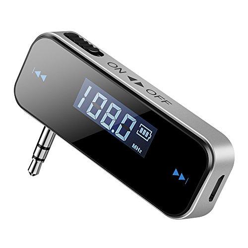 Smarzon Wireless FM Transmitter Auto Audio Radioempfänger KFZ mit LCD-Display für iPhone, Samsung, HTC, MP3, MP4 und meisten Geräte mit 3,5mm Audio Jack