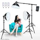 LINCO Lincostore Photography Studio Lighting Kit Arm for Video Continuous Lighting Shadow Boom Box Lights Set Headlight Softbox Setup with Daylight Bulbs AM262 Reviews