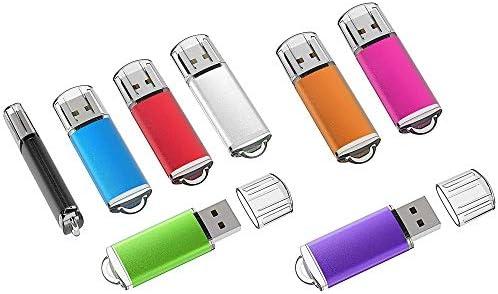 XHMCDZ 8pcs Colorido 16GB Flash Drive Bulk USB 2.0 Thumb Drives ...