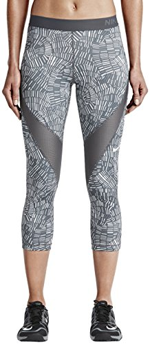 Nike Pro Hypercool Printed Capri Leggings Dark Grey/White