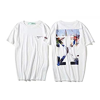 cbb5ae93 off-White Oil Painting T-Shirt Fashion Tee Unisex Short Sleeve For Men and