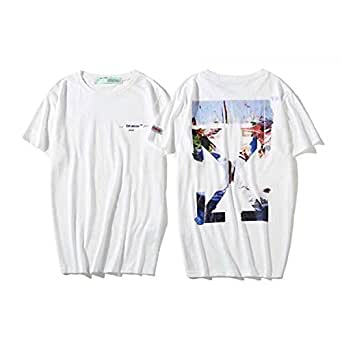off-White Oil Painting T-Shirt Fashion Tee Unisex Short Sleeve For Men and Women