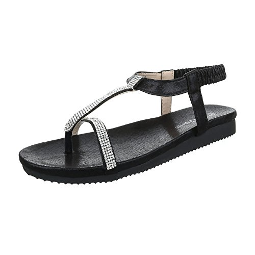 Ital-Design Women's Fashion Sandals Black YMBV7rx
