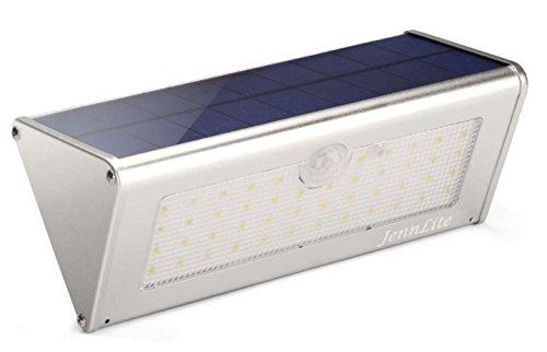 JennLite Solar Lights Outdoor, 46 LED, True 1100 Lumen, 4500mAh, PIR Motion Sensor Light, Wireless Waterproof Security Wall Light for Landscape, Patio, Deck, Yard, Path, Driveway, Garden