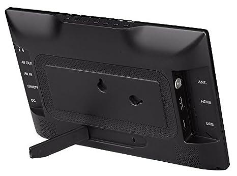 Denver LED-1031 Televisor LED portátil con sintonizador de TV Digital Integrado, DVB-T Antena, Mando a Distancia y Puerto USB, 25,6 cm (10,1 Pulgadas): ...