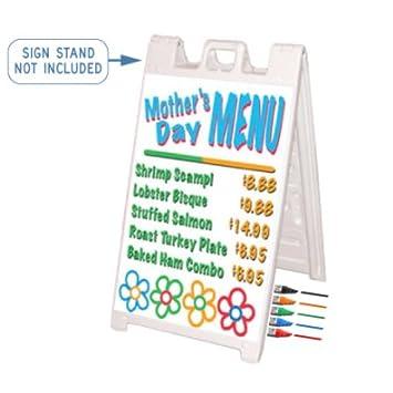 Amazon.com: Blanco Wet Erase Marker Board Kit para Signicade ...