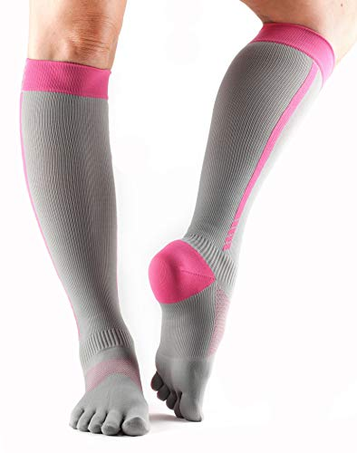 toesox Zoe Performance Five Toe Compression Toesocks (4AM Flush) Small -