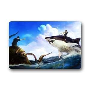 """Custom tiburón """"15,7(W) X 23,6(H) tela no tejida Multifuntional Felpudo"""