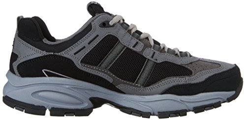 Skechers Sport Men's Vigor 2.0 Trait Memory Foam Sneaker, Charcoal/Black, 7 M US by Skechers (Image #7)