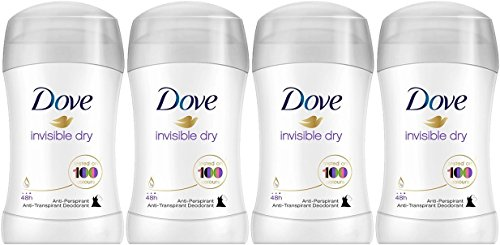 Dove Invisible Dry Anti-Perspirant Deodorant Stick 40ml (PACK OF 4)