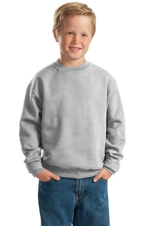Jerzees 562b Sweatshirt (562B Jerzees Youth NuBlend® Crew Neck Sweatshirt - Ash (50/50) - Large)