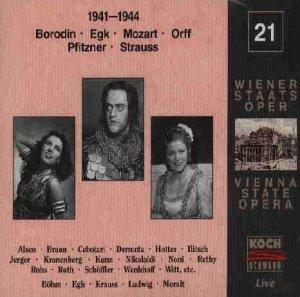 Vienna State Opera Series - Vol 21 by Staatsoper/Braun/Jerger (1995-05-16)
