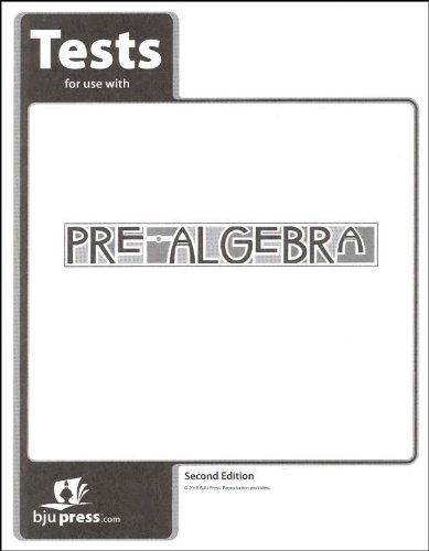 Math 2 Test Pack - Pre-Algebra Grade 8 Test Pack 2nd Edition