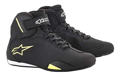 Alpinestars Men's Sektor Shoe (10.5, Black Yellow Flourecent)