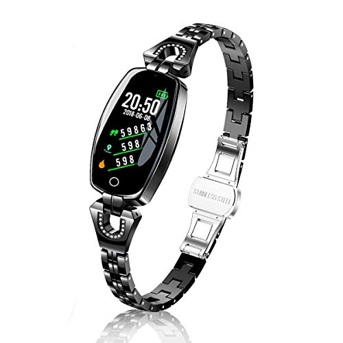 TMYIOYC Fitness Tracker, Activity Tracker Watch with Pedometer, Call and Message Reminder, Heart Rate Monitor, Calorie Counter, Anti-Lost, Smart Bracelet Fitness Band Watch for Woman and Sport Lovers (Woman Health Fitness)