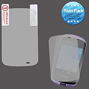 Clear Twin Pack Screen Protector for Pantech Swift P6020 J68F