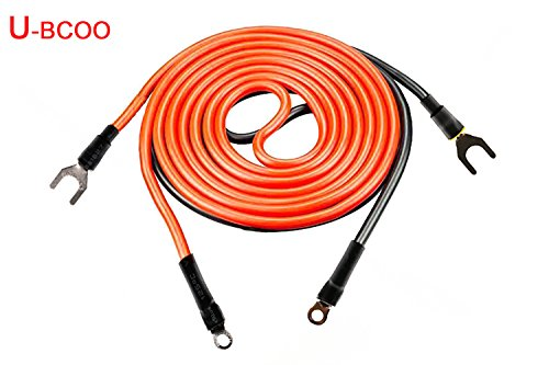 U-BCOO 10 AWG Battery Inverter Cable Assemblies, RV, Automotive, Ship (1ft) (Outboard Motor Battery Cables)