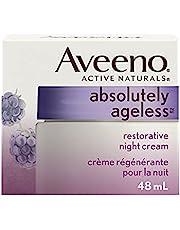 Aveeno Anti Aging Night Vitamin E Cream, Absolutely Ageless Restorative Moisturizer for Face, 48 mL