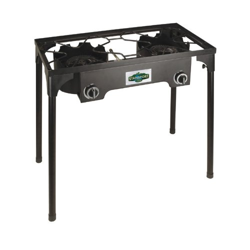Stansport 2 Burner Cast Iron Stove with Stand (15,000 BTUs), Outdoor Stuffs