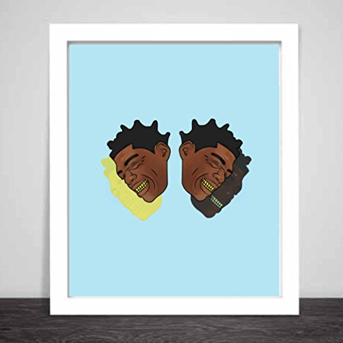 Kodak Black Art Poster color Blue