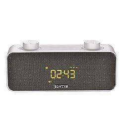 LXYFMS Clock Alarm Clock Wireless Bluetooth Speaker FM Radio Card Speaker, 185×80.3×55mm Speaker (Color : Black)