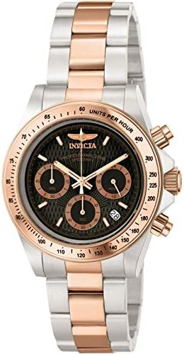 Invicta Men s 6932 Speedway Professional Collection 18k Rose Gold-Plated and Stainless Steel Watch